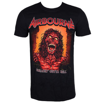 tričko pánske AIRBOURNE - BOH SKELETON T - BLACK - LIVE NATION, LIVE NATION, Airbourne