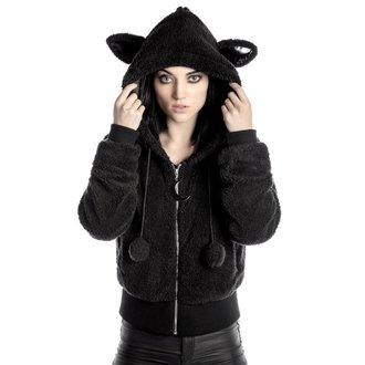 mikina dámska (bunda) KILLSTAR - Satanicat - Black, KILLSTAR