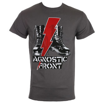 tričko pánske AGNOSTIC FRONT - BLITZ BOOTS - Charcoal - RAGEWEAR, RAGEWEAR, Agnostic Front