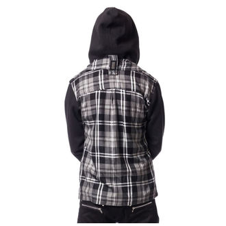 mikina pánska VIXXSIN - QUINN JACKET MENS GREY CHECK, VIXXSIN