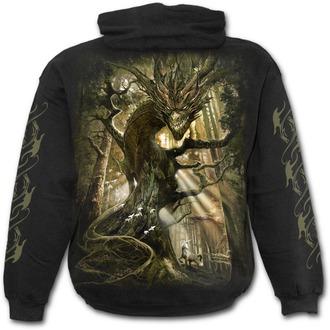 mikina pánska SPIRAL - DRAGON FOREST - Black, SPIRAL