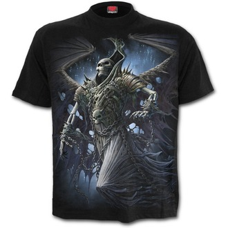 tričko pánske SPIRAL - WINGED SKELTON - Black, SPIRAL