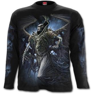 tričko pánske s dlhým rukávom SPIRAL - WINGED SKELTON - Black, SPIRAL