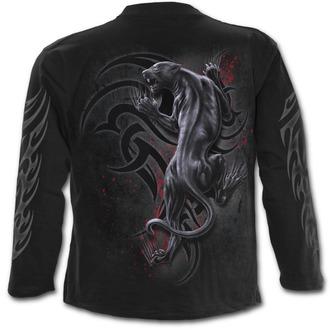 tričko pánske s dlhým rukávom SPIRAL - TRIBAL PANTHER - Black, SPIRAL