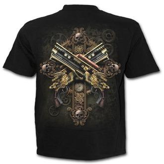 tričko pánske SPIRAL - STEAMPUNK SKELETON - Black, SPIRAL