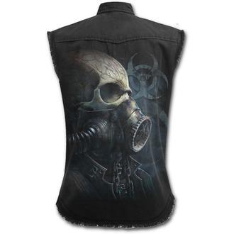 košele pánska bez rukávov SPIRAL - BIO-SKULL - Black, SPIRAL