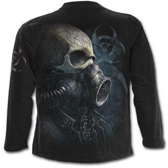 tričko pánske s dlhým rukávom SPIRAL - BIO-SKULL - Black - M024M301