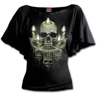 tričko dámske SPIRAL - WAXED SKULL - Black, SPIRAL