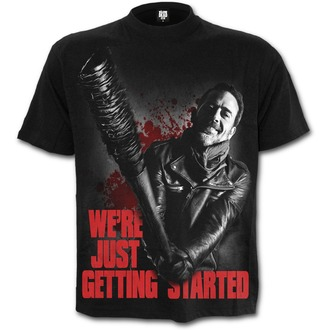 tričko pánske SPIRAL - NEGAN - JUST GETTING STARTED - Walking Dead - Black, SPIRAL