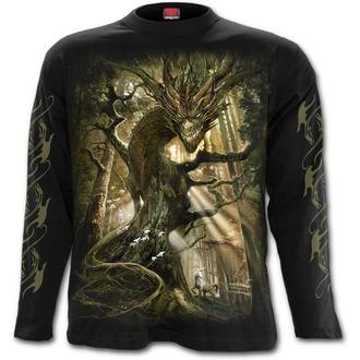 tričko pánske s dlhým rukávom SPIRAL - DRAGON FOREST - Black, SPIRAL