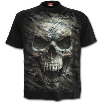 tričko pánske SPIRAL - CAMO-SKULL - Black, SPIRAL