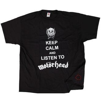 tričko pánske Motörhead - Keep Calm - Black - ROCK OFF - POŠKODENÉ, ROCK OFF, Motörhead