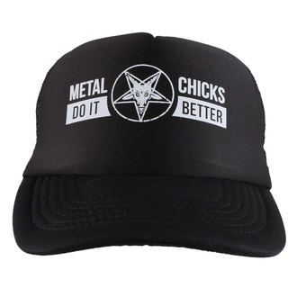 šiltovka METAL CHICKS DO IT BETTER - Baphomet - Logo - Black, METAL CHICKS DO IT BETTER