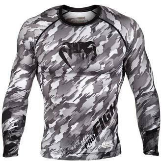 tričko pánske s dlhým rukávom (termo) Venum - Tecmo Rashguard - Black/Grey - VENUM-03139-109