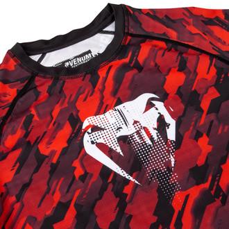 tričko pánske s dlhým rukávom (termo) Venum - Tecmo Rashguard - Red / White