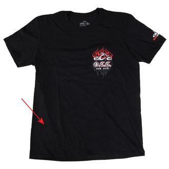 tričko pánske ORANGE COUNTY CHOPPERS - Pinstripe Flame - Black, ORANGE COUNTY CHOPPERS