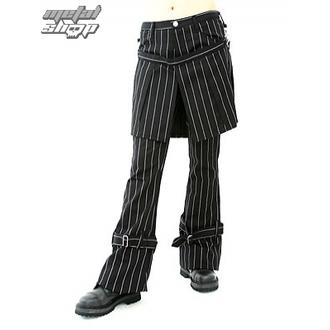 nohavice dámske Aderlass - Skirt Pants Pin Stripe (Black-White), ADERLASS