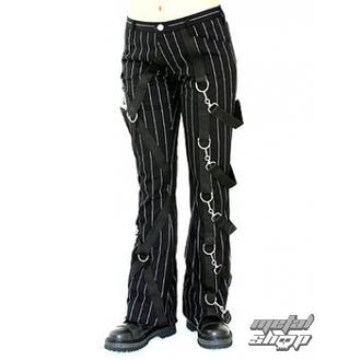 nohavice dámske Aderlass - Cross Pants Pin Stripe (Black-White), ADERLASS