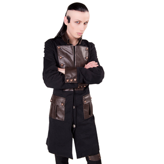 kabát pánsky Aderlass - Steam Punk Coat Denim Black-Brown, ADERLASS