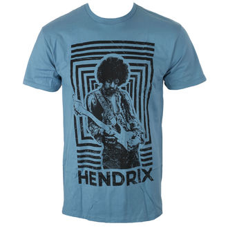 tričko pánske Jimi Hendrix - AUTHENTIC SQUARES BLUE - BRAVADO, BRAVADO, Jimi Hendrix