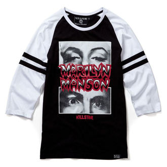 tričko unisex s 3/4 rukávom KILLSTAR - MARILYN MANSON - American Conspiracy - Black - K-TOP-U-2508