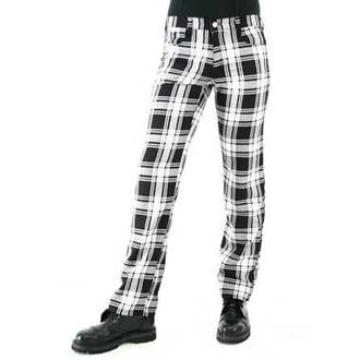 nohavice pánske Black Pistol - Tartan Pants Black-white, BLACK PISTOL