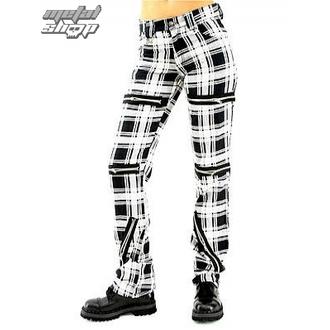 nohavice dámske Black Pistol - Destroy Pants Tartan (Black/White) - B-1-20-060-01