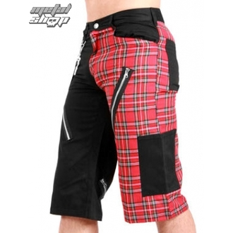 kraťasy pánske Black Pistol - Tartan Short Pants Black / Red