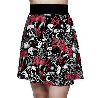 sukňa dámska KILLSTAR - ROB ZOMBIE - Baby Death Skater - BLACK, KILLSTAR, Rob Zombie