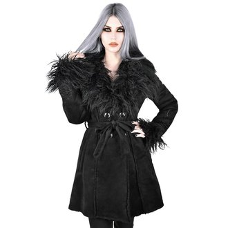 kabát dámsky KILLSTAR - Belladonna Shearling - BLACK, KILLSTAR