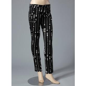 Nohavice  dámské HELL BUNNY - Zipper Skinny Jeans (White), HELL BUNNY