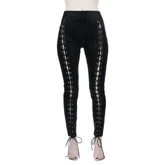 nohavice dámske (legíny) KILLSTAR - Black Sea Lace-Up - BLACK, KILLSTAR