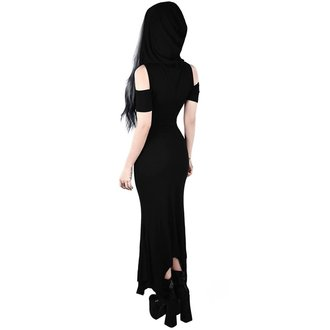 šaty dámske KILLSTAR - Blazing Maxi - BLACK, KILLSTAR