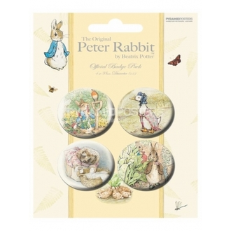 odznaky - Beatrix Potter - BP80167, PYRAMID POSTERS