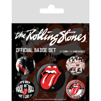 odznaky Rolling Stones - (&&string0&&) - PYRAMID POSTERS, PYRAMID POSTERS, Rolling Stones