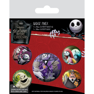 odznaky Nightmare Before Christmas - (&&string0&&) - PYRAMID POSTERS, PYRAMID POSTERS