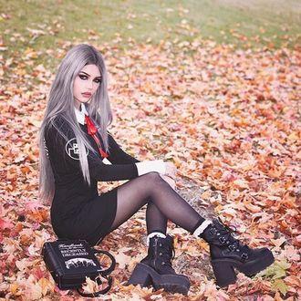 topánky dámske KILLSTAR - BROOM RIDER - BLACK - K-FTW-F-2882