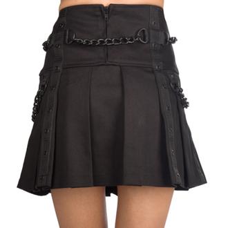 sukňa dámska Black Pistol - Chain Denim - Black, BLACK PISTOL