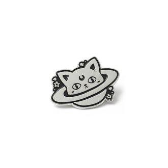 pripináčik KILLSTAR - CAT PLANET - BLACK - K-PIN-U-3040