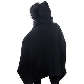 mikina dámska (pončo) KILLSTAR - Crypt Keeper Faux - BLACK