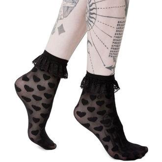 ponožky KILLSTAR - DARK HEARTS - BLACK, KILLSTAR