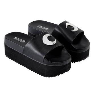 topánky dámske (sandále) KILLSTAR - DARK MOON SLIDES - BLACK, KILLSTAR