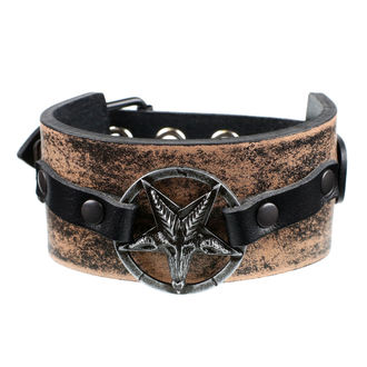 náramok Baphomet - brown, JM LEATHER