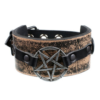 náramok Pentagram - brown, JM LEATHER