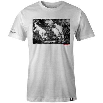 tričko pánske FAMOUS STARS & STRAPS - DRUMS DRUMS DRUMS - WHITE, FAMOUS STARS & STRAPS