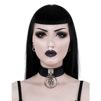 obojok KILLSTAR - Elena Skull - BLACK, KILLSTAR