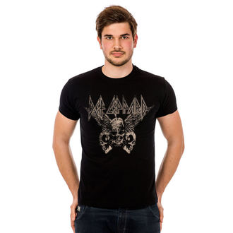 tričko pánske Def Leppard - Flying Skulls - Black - HYBRIS, HYBRIS, Def Leppard