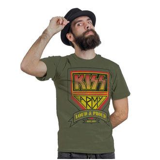 tričko pánske KISS - ARMY Distressed Logo - HYBRIS, HYBRIS, Kiss
