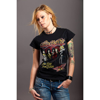 tričko dámske Aerosmith - Band - Black - HYBRIS, HYBRIS, Aerosmith