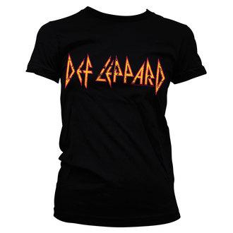 tričko dámske Def Leppard - Distressed - Logo - Black - HYBRIS, HYBRIS, Def Leppard